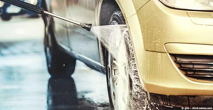 Detailansicht Autowäsche